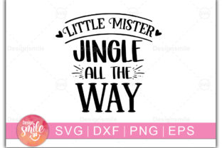 Print on Demand: Little Mister Jingle All the Way Graphic Print Templates By Designdealy