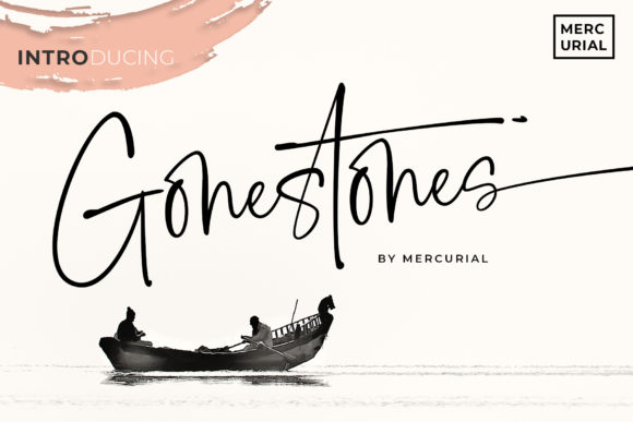 Print on Demand: Gonestones Script & Handwritten Font By Mercurial - Image 1