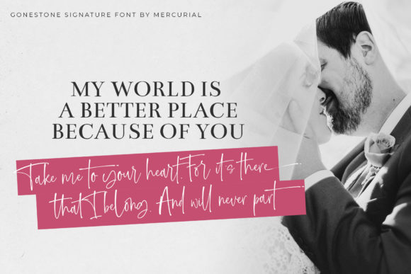 Print on Demand: Gonestones Script & Handwritten Font By Mercurial - Image 8