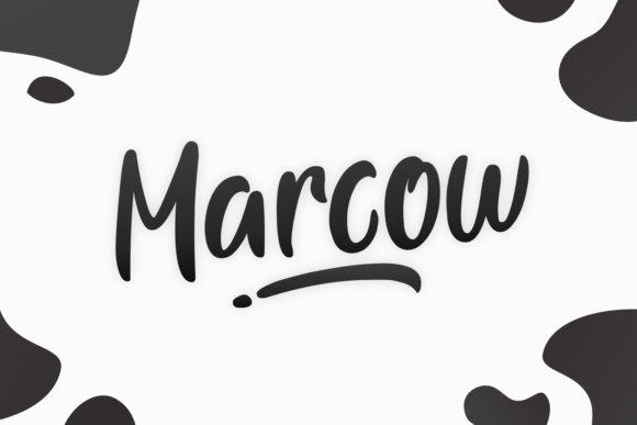 Print on Demand: Marcow Display Font By Dani (7NTypes)
