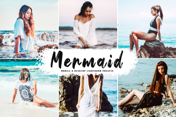 Print on Demand: Mermaid Pro Lightroom Presets Graphic Actions & Presets By Creative Tacos