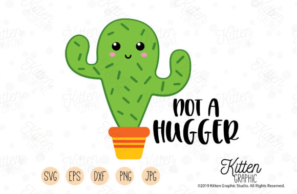 Download Free Not A Hugger Graphic By Kittengraphicstudio Creative Fabrica for Cricut Explore, Silhouette and other cutting machines.