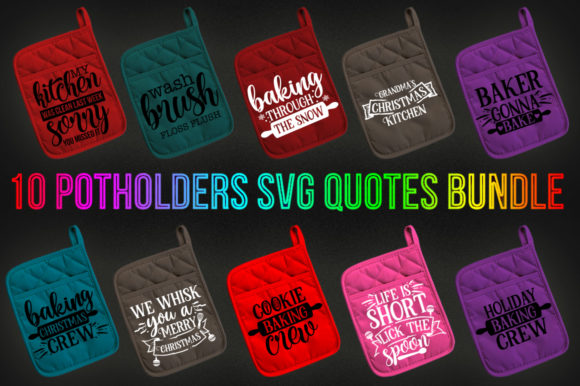 Print on Demand: Potholder SVG Bundle Graphic Print Templates By DesignSmile