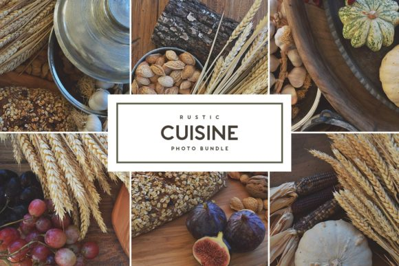 Print on Demand: Rustic Cuisine - Stock Photo Bundle Graphic Food & Drinks By Ghosmod