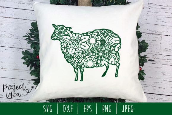 Download Free Sheep Mandala Zentangle Graphic By Savoringsurprises Creative for Cricut Explore, Silhouette and other cutting machines.