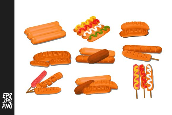 Print on Demand: Sausage Vector Bundle Graphic Crafts By Arief Sapta Adjie