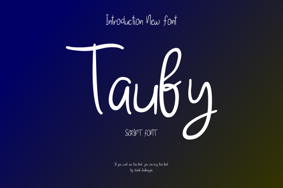 Print on Demand: Taufy Script & Handwritten Font By hanifarifinsyah
