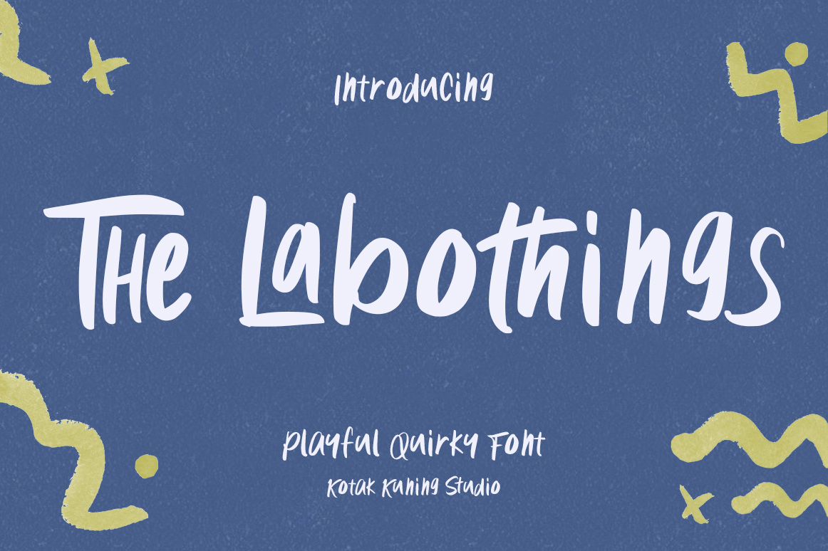 Download Free The Labothings Font By Kotak Kuning Studio Creative Fabrica for Cricut Explore, Silhouette and other cutting machines.