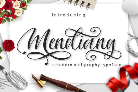 Print on Demand: Mendiang Script & Handwritten Font By screen letter