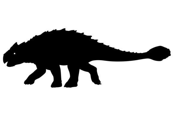 Download Free Ankylosaurus Dinosaur Silhouette Graphic By Idrawsilhouettes for Cricut Explore, Silhouette and other cutting machines.