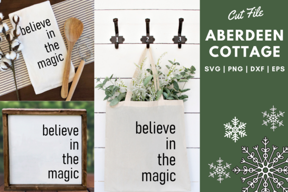 Download Free Believe In The Magic 2 Svg Graphic By Aberdeencottage Creative for Cricut Explore, Silhouette and other cutting machines.
