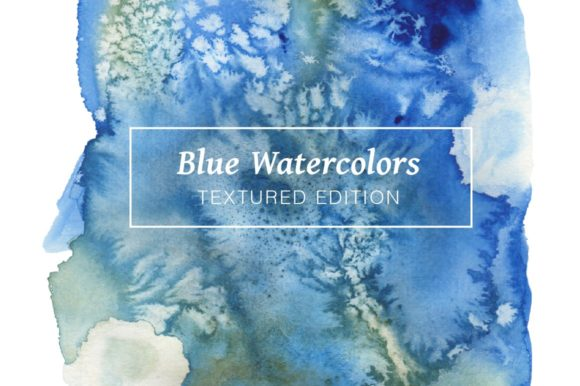 Blue Textured Watercolors Graphic Textures By Cassandra Cappello