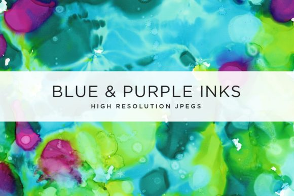 Blue and Purple Inks Graphic Textures By Cassandra Cappello