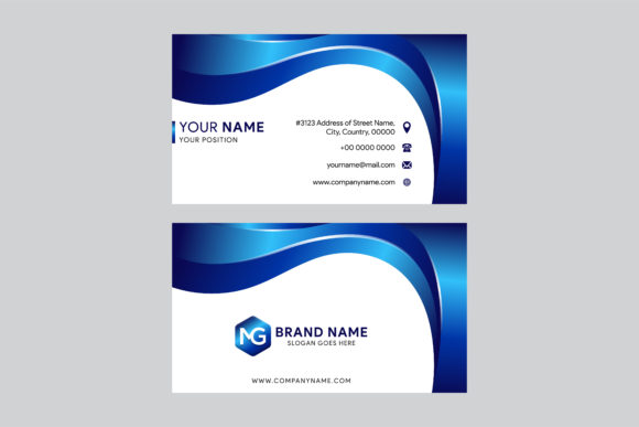 Print on Demand: Business Card Dental Blue Graphic Print Templates By noory.shopper