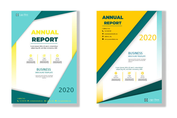 Print on Demand: Business Annual Report Cover Template Graphic Print Templates By iop_micro