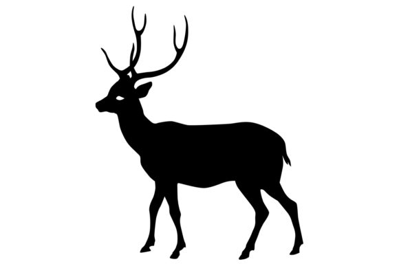Download Free Male Deer Silhouette Graphic By Idrawsilhouettes Creative Fabrica for Cricut Explore, Silhouette and other cutting machines.