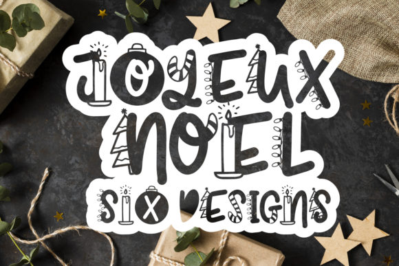 Print on Demand: Joyeux Noel Display Font By freelingdesignhouse