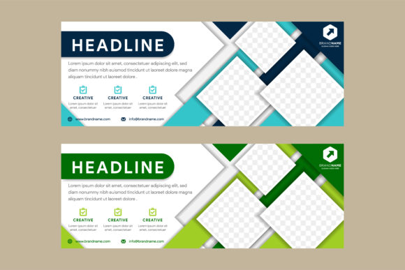 Print on Demand: Diagonal Square Blue Green Horizontal Graphic Graphic Templates By noory.shopper
