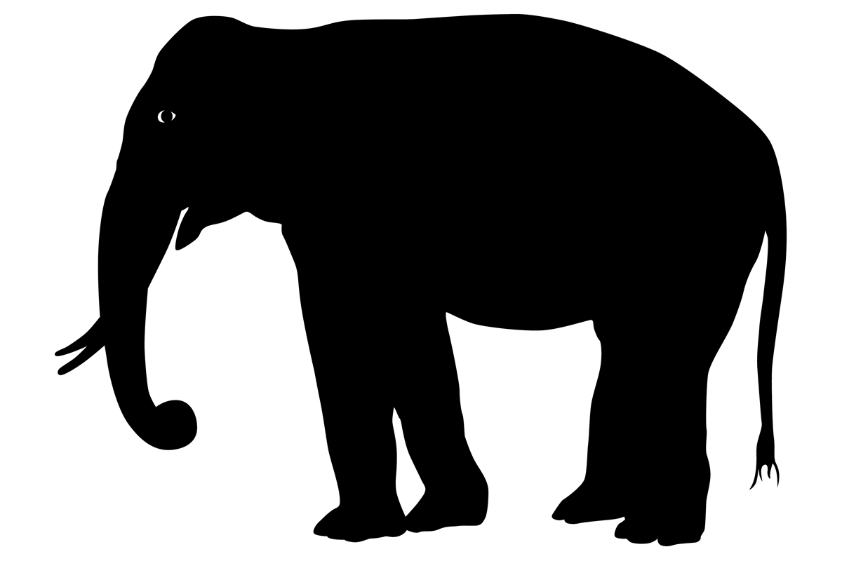Download Free Elephant Silhouette Graphic By Idrawsilhouettes Creative Fabrica for Cricut Explore, Silhouette and other cutting machines.