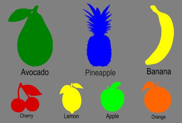 Print on Demand: Fruit Silhouette Graphic Icons By colorsplash