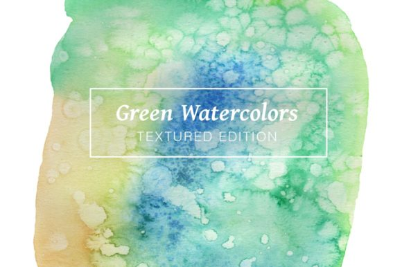 Green Textured Watercolors Graphic Textures By Cassandra Cappello