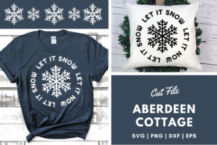 Download Free Let It Snow 3 Design Graphic By Aberdeencottage Creative Fabrica for Cricut Explore, Silhouette and other cutting machines.