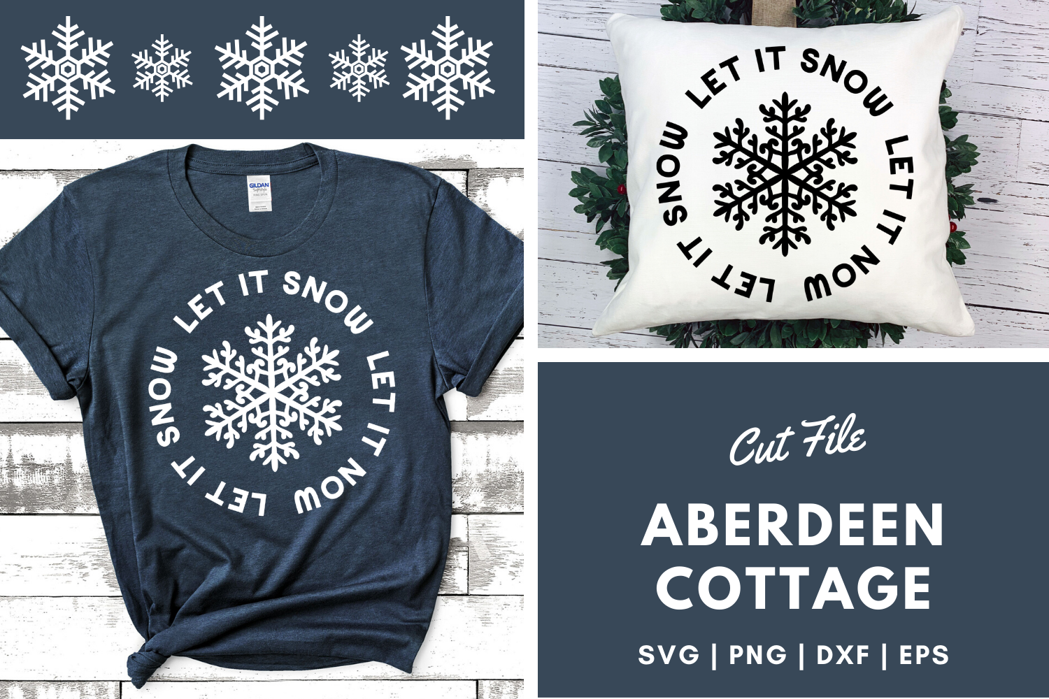 Download Free Let It Snow 3 Design Graphic By Aberdeencottage Creative Fabrica SVG Cut Files
