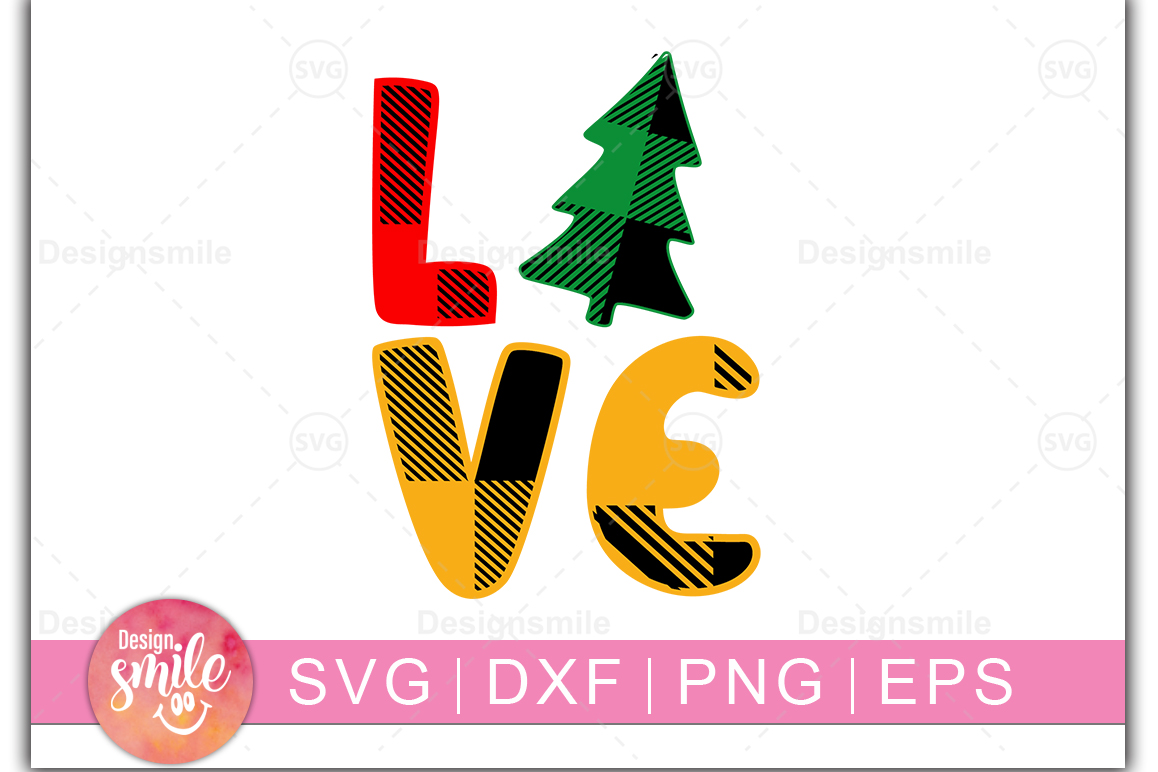 Download Free Christmas Love Graphic By Designdealy Com Creative Fabrica for Cricut Explore, Silhouette and other cutting machines.