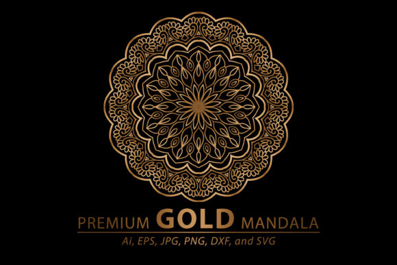 Premium Gold Mandala Vector Art Pattern Graphic By