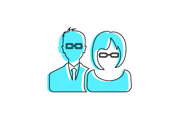 Download Free Businessman Female And Male Icon Graphic By Riduwan Molla for Cricut Explore, Silhouette and other cutting machines.