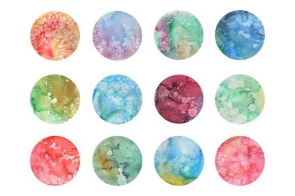 Multicolored Textured Watercolors Graphic Textures By Cassandra Cappello - Image 2