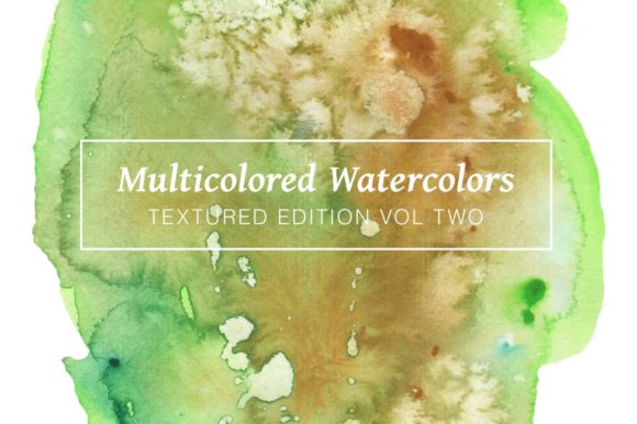 Multicolored Textured Watercolors Graphic Textures By Cassandra Cappello - Image 1