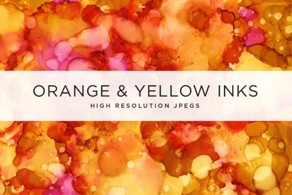 Orange and Yellow Ink Textures Graphic Textures By cassandra