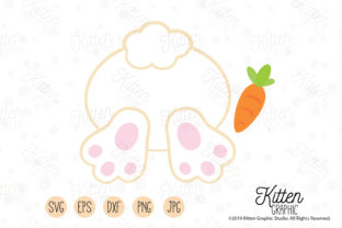 Download Free Easter Bunny Graphic By Kittengraphicstudio Creative Fabrica for Cricut Explore, Silhouette and other cutting machines.