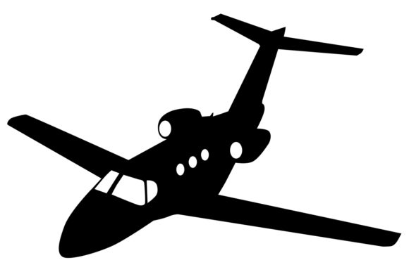 Download Free Private Jet Silhouette Graphic By Idrawsilhouettes Creative for Cricut Explore, Silhouette and other cutting machines.