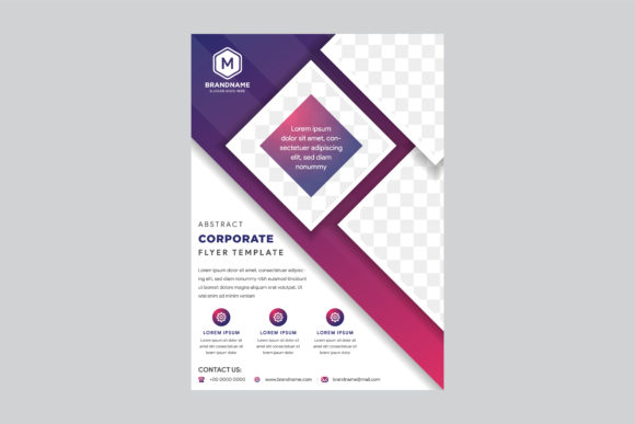 Print on Demand: Purple Flyer Square Mosaic Graphic Graphic Templates By noory.shopper