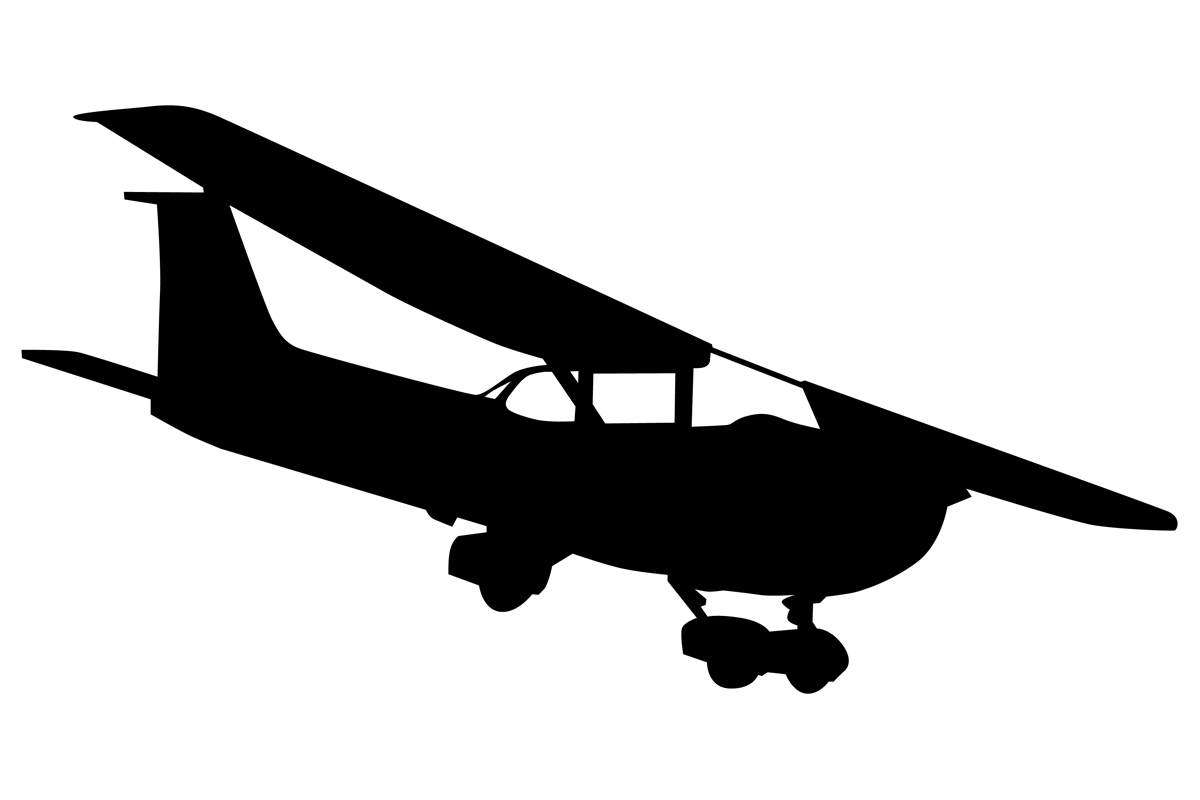 Download Free Small Single Engine Plane Silhouette Graphic By Idrawsilhouettes for Cricut Explore, Silhouette and other cutting machines.