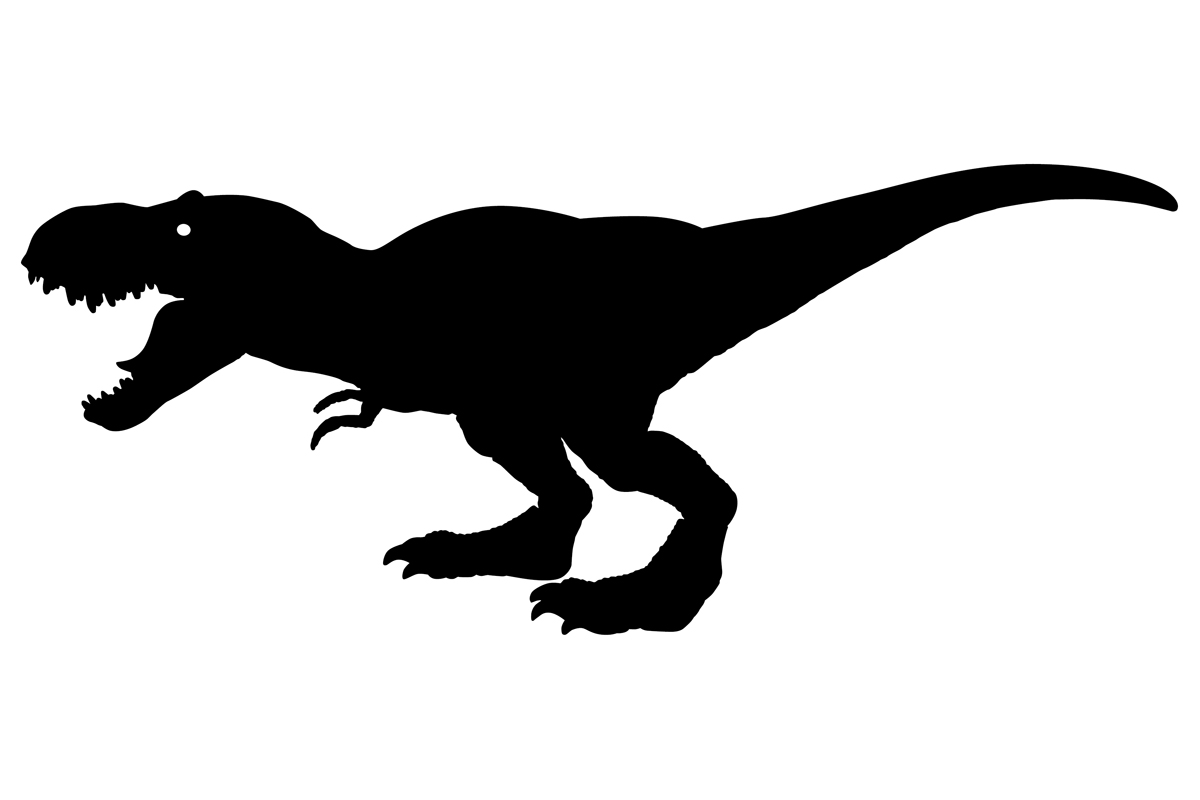 Download Free T Rex Dinosaur Silhouette Graphic By Idrawsilhouettes Creative for Cricut Explore, Silhouette and other cutting machines.