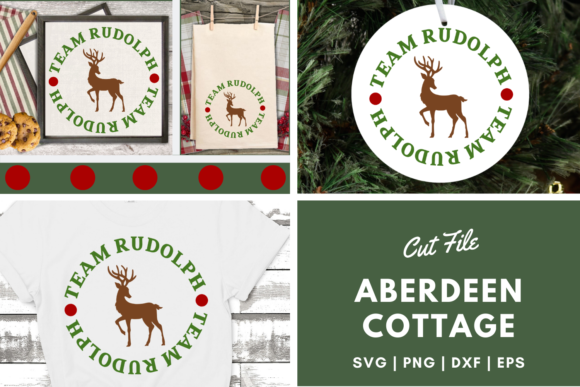 Download Free Team Rudolph Graphic By Aberdeencottage Creative Fabrica for Cricut Explore, Silhouette and other cutting machines.