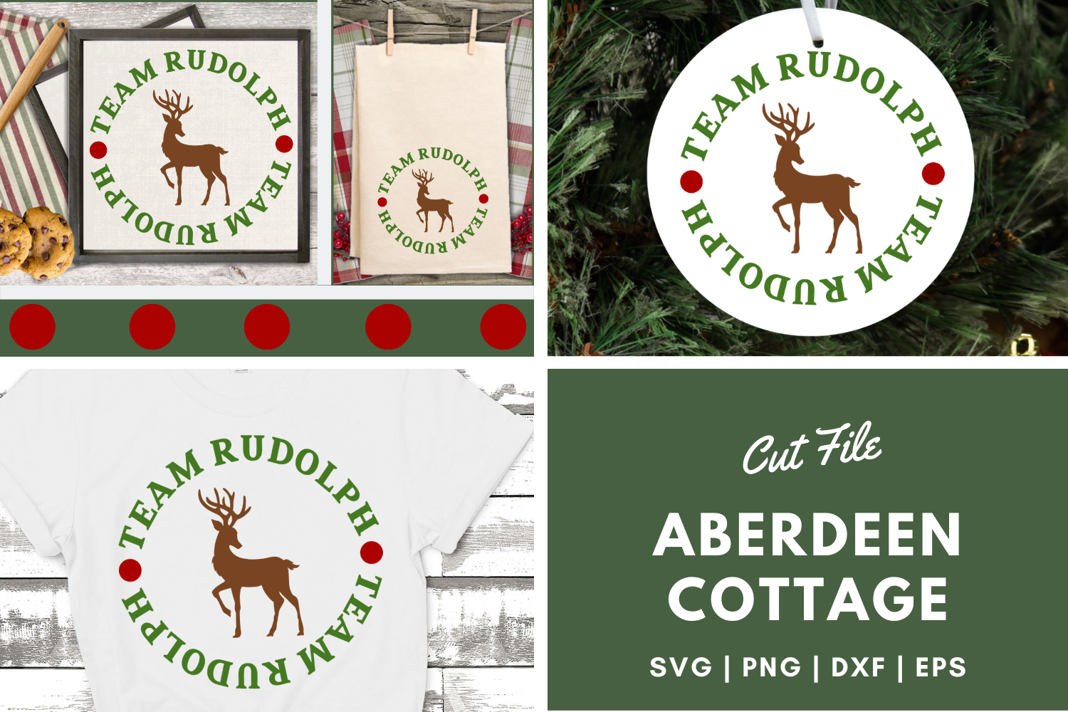 Download Free Team Rudolph Svg Png Dxf Eps Graphic By Aberdeencottage for Cricut Explore, Silhouette and other cutting machines.