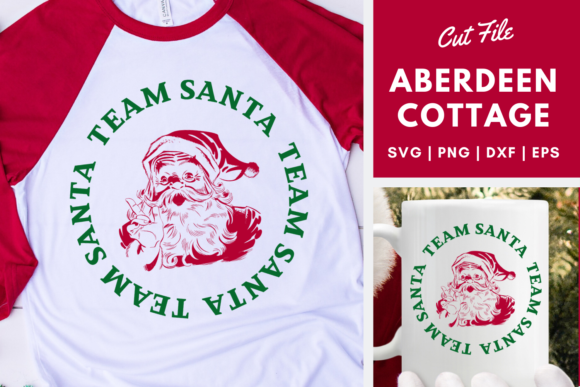 Download Free Team Santa Graphic By Aberdeencottage Creative Fabrica for Cricut Explore, Silhouette and other cutting machines.
