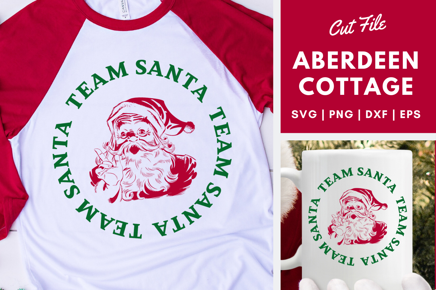 Download Free Team Santa Svg Png Dxf Eps Graphic By Aberdeencottage Creative for Cricut Explore, Silhouette and other cutting machines.