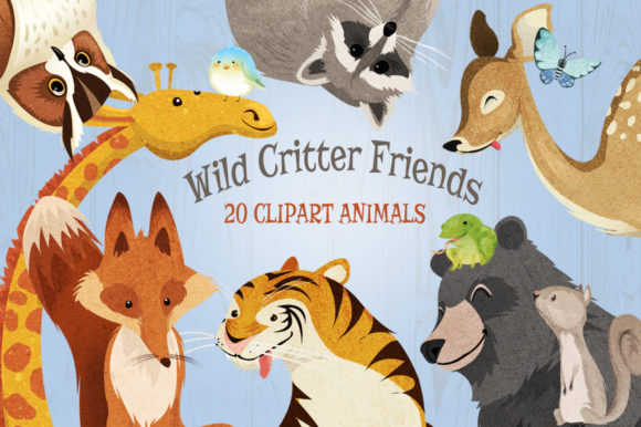 Wild Animals Critter Friends Clip Art Graphic Illustrations By Dapper Dudell