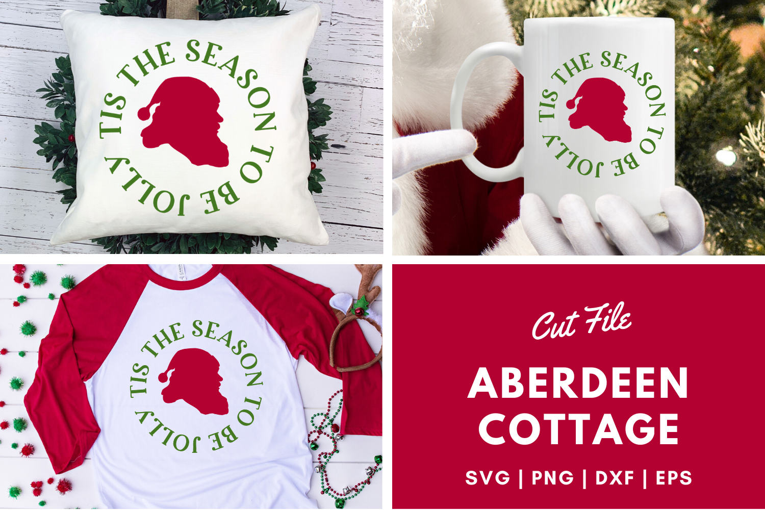 Download Free Tis Theseason To Be Jolly Svg Graphic By Aberdeencottage for Cricut Explore, Silhouette and other cutting machines.