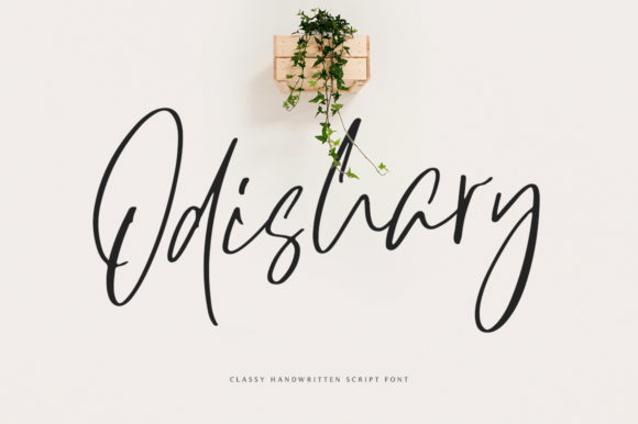 Print on Demand: Odishary Script & Handwritten Font By motokiwo