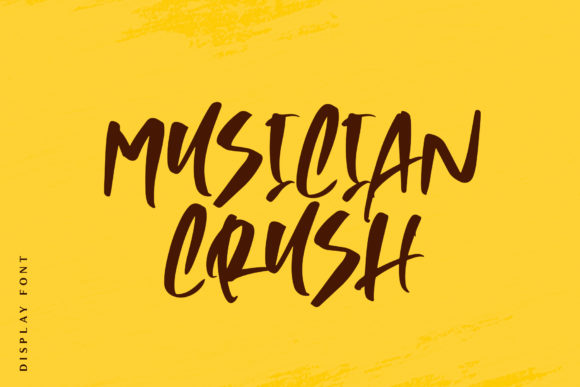 Print on Demand: Musician Crush Display Font By motokiwo