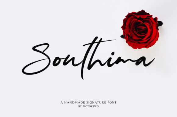 Print on Demand: Southima Script & Handwritten Font By motokiwo