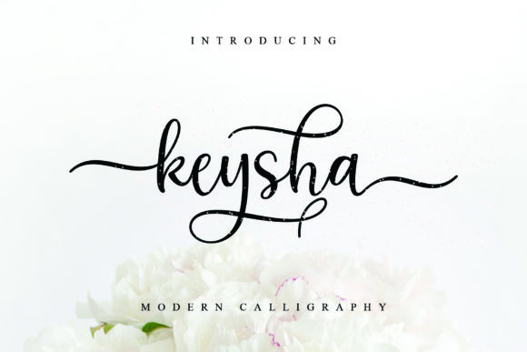 Print on Demand: Keysha Script & Handwritten Font By MJB Letters