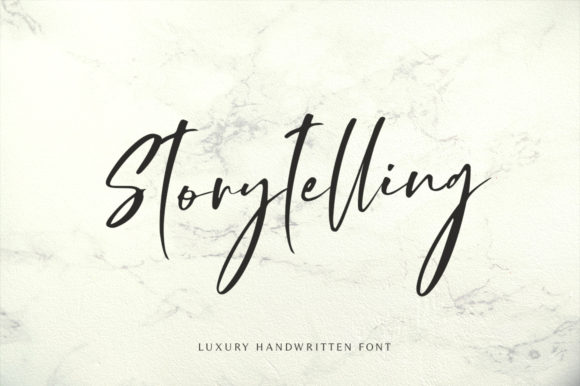 Print on Demand: Storytelling Script & Handwritten Font By motokiwo