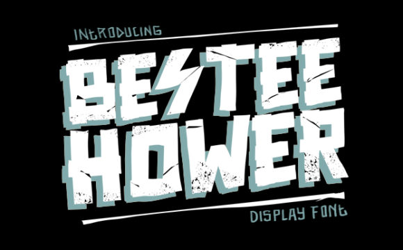 Print on Demand: Bestee Hower Display Font By brnk1314